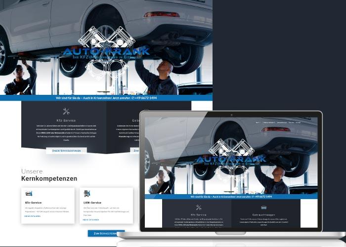 BLICKfang Webdesign für Auto-Frank e. K.