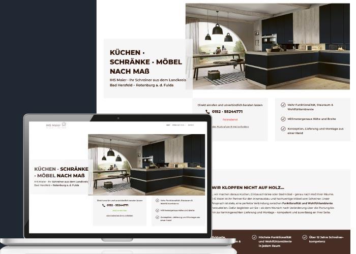 BLICKfang Webdesign für IHS Maier