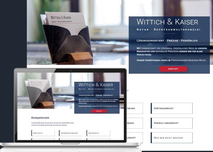 BLICKfang Webdesign für Wittich&Kaiser